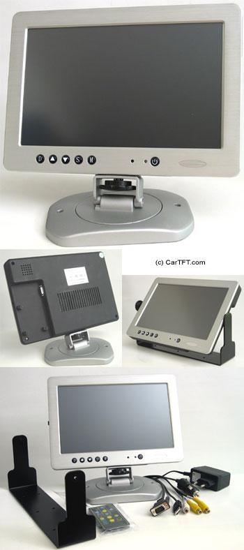 """Car-PC 1020TSV -- TFT 10.2"""" -- VGA and PAL/NTSC -- with Touchscreen <b>USB</b>"""