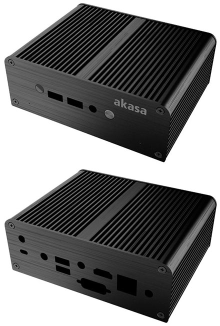 Akasa Newton AC enclosure (for Intel NUC NUC6CAYS/NUC6CAYH) <b>[FANLESS]</b>