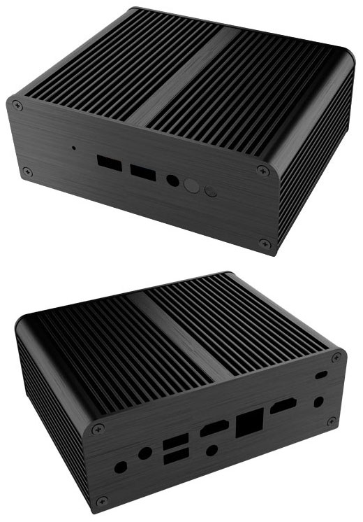 Akasa Newton JC enclosure (for Intel NUC NUC7CJYH/NUC7PJYH) <b>[FANLESS]</b>