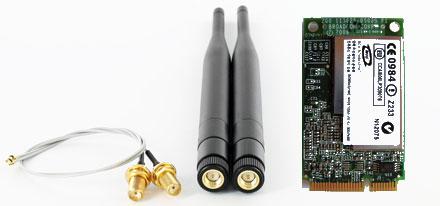 Wireless LAN Mini-PCI Express [Broadcom BCM94321MC] (300 Mbit) -- With Pigtails/Antennas --