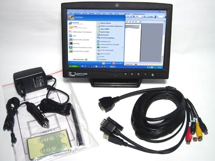 "CTF1020-L - VGA 10.2"" TFT - Touchscreen USB - Video -  Autodimmer - Audio <b>[LED-Backlight]</b>"