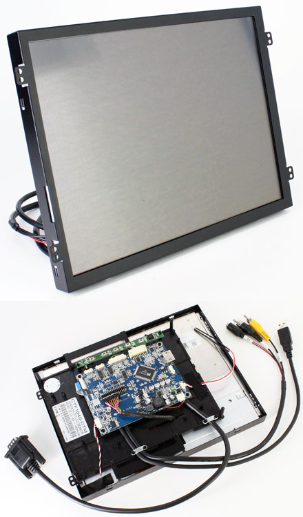 "CTF1040<b>-CTM</b> - VGA/HDMI 10.4"" TFT - Capacitive Multi-Touchscreen USB - Video - <b>OPEN-FRAME</b> [1024x768, Kontrast 1200:1]"