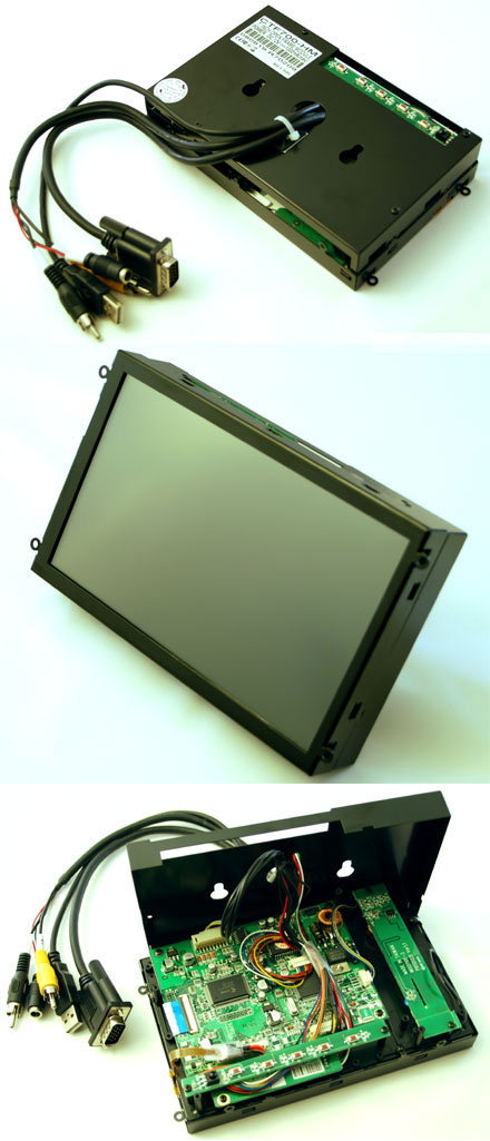 "CTF700-<b>SHM</b> - VGA 7"" TFT - Touchscreen USB - <b>OPEN-FRAME</b> (<b>800nits</b>) <b>-TRANSFLECTIVE PRO-</b>"