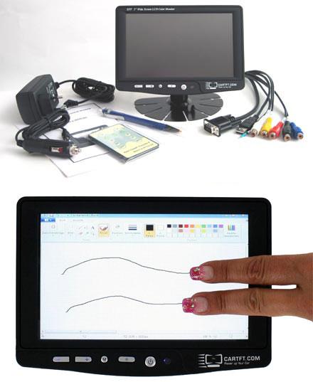 "CTF700-CT - VGA 7"" TFT - Capacitive Multi-Touchscreen USB - PAL/NTSC - IR Remote - Audio <b>(500 nits) [LED-Backlight]</b>"