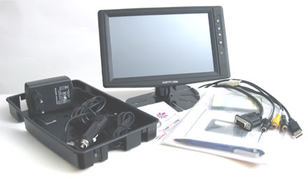 "CTF800<b>-L</b> - VGA 8"" TFT - Touchscreen USB - PAL/NTSC - Autodimmer - IR Remote - Audio <b>(500 nits) [LED-Backlight]</b>"