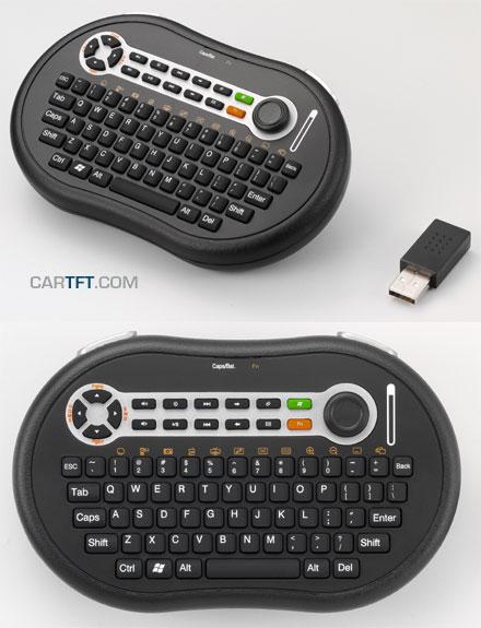 CTFWIKE-4 Wireless RF-keyboard with Mouse-stick (10m range) [UK-Layout]