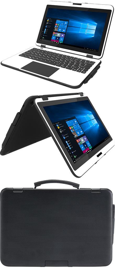"TURNT302R Classmate PC Convertible (Win 10 Pro, 11.6"" Multi-Touch, 64GB eMMC, 4GB RAM, WLAN/BT/GPS)"
