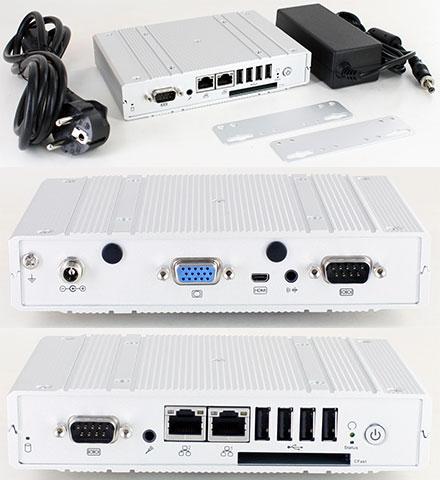 DFI EC800-CD2041 Mini-PC (Intel D2550 2x1.86Ghz, 2GB RAM, 16GB SSD, 2x LAN, 2x COM, 2x MiniPCIe) [<b>FANLESS</b>]