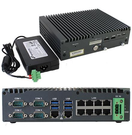 Gigabyte QBix-Jetson-Nano (Nvidia Jetson, 4GB RAM, 10x LAN (8x POE)) [<b>FANLESS</b>]