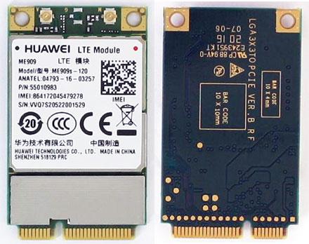 HSPA / UMTS / EDGE / <b>LTE 4G</b> Mini-PCIe Modem (Huawei ME909s-120 55010983)