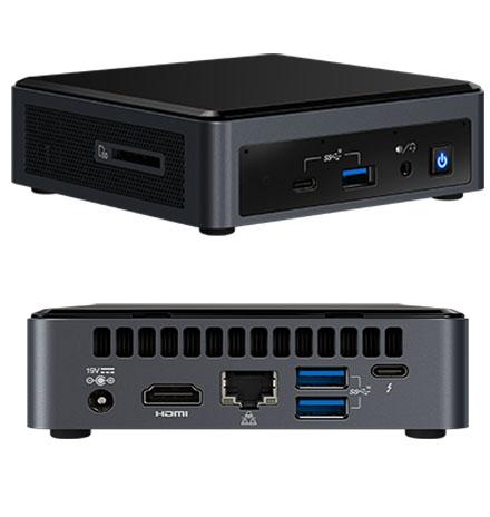 Intel NUC10i7FNK (Intel Core i7-10710U up to 4,70GHz,  1x HDMI, 5x USB 3.1, Thunderbolt, 1x <b>M.2</b>)