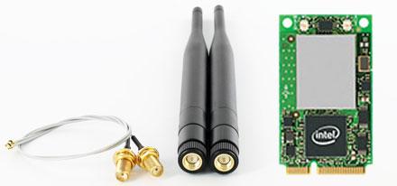 Wireless LAN Mini-PCI Express [Intel 3945ABG] (54 Mbit) -- With Pigtails/Antennas --