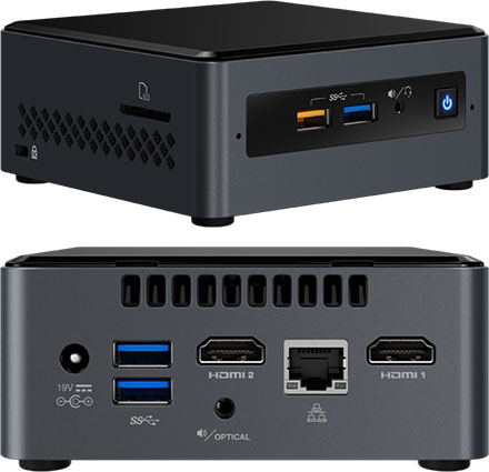 """Intel NUC7PJYH (Intel Pentium Silver J5005 4x 1.50GHz, 2x HDMI, 2.5"""" HDD/SSD support)"""