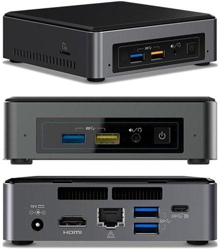 Intel NUC7i3BNK (Intel Core i3-7100U CPU 2x 2.4Ghz, 1x HDMI, 1x dP, 1x M.2)
