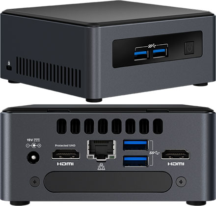 "Intel NUC7I5DNHE (Intel Core i5-7300U 2x 2.60GHz, 2x HDMI, 1x M.2, 2.5"" HDD/SSD support)"