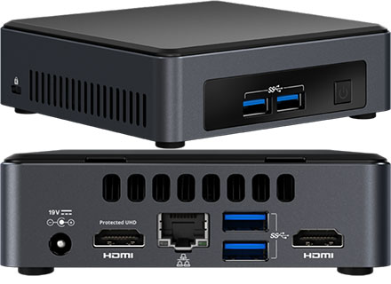 Intel NUC7I5DNKE (Intel Core i5-7300U 2x 2.60GHz, 2x HDMI, 2x M.2)