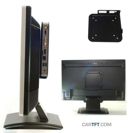 VESA-mounting unit f. Jetway JBC600C99-52W-BW / JBC620C86-E35D-BW / JBC360F33-B / JBC360F33W-B