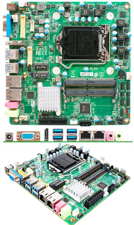 Jetway NC8HA-IH310 Thin-ITX (Intel Coffee Lake-S H310) [2x LAN]