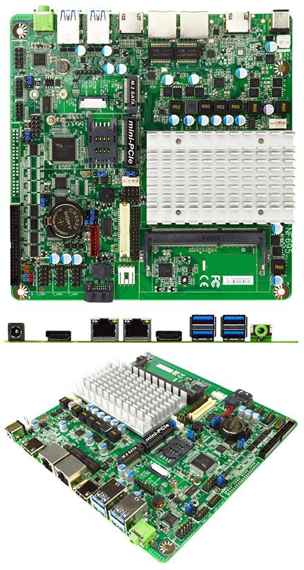 Jetway JNF695C6-3455 (Intel Apollo Lake) [6x COM, 2x HDMI]