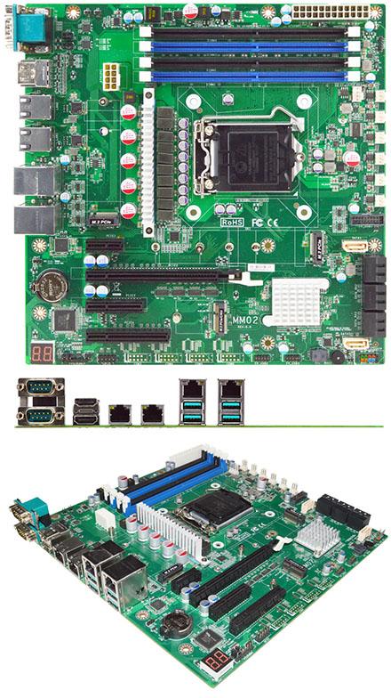 Jetway MM02-20 Micro-ATX (Intel Comet Lake-S W480E, LGA1200) [4x LAN, 2x RS232]