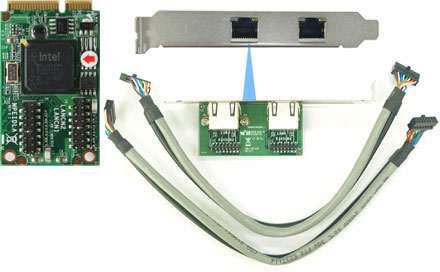 Jetway ADMPEIDLB (Mini-PCIe, 2x Gigabit LAN Intel i350)
