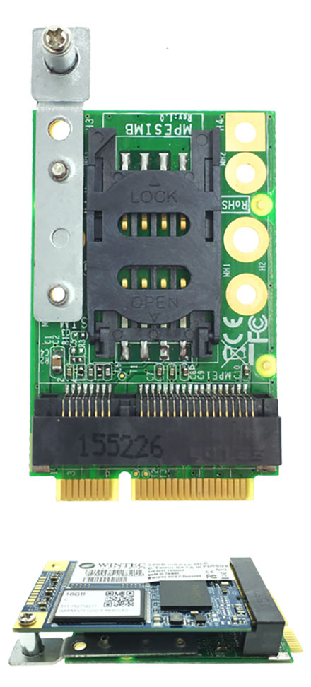 Jetway ADMPESIMB (SIM-card-adapter f. Mini-PCIe 3G/4G/UMTS/LTE modems)