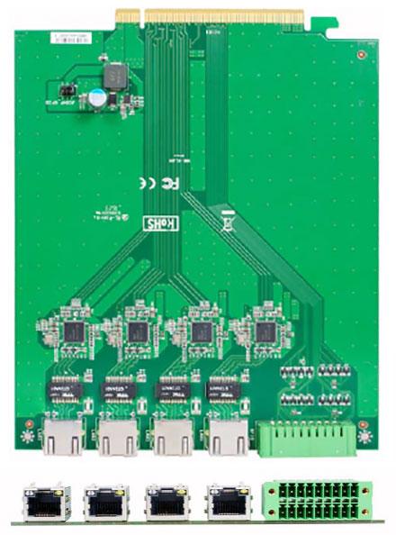 Jetway ADD-ON HM1-LAN4 (4x LAN, 1x GPIO) [for HM-1000]