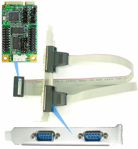 Jetway ADMPEFT4CA (Mini-PCIe, 4x COM)