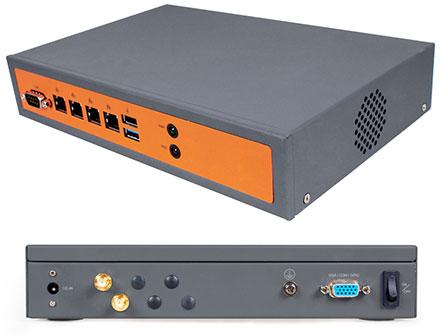 CTFROUTER-2-F V3 (4x Gigabit Multi-WAN, VPN, WLAN, Firewall, SSH, Web-GUI, ClearOS/CentOS, Intel Atom based) [<b>FANLESS, 650 Mbit NAT-Performance</b>]