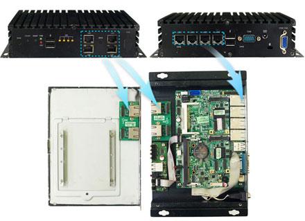 CTFROUTER-2B-F V2 (8x Gigabit Multi-WAN, VPN, Firewall, SSH, Web-GUI, ClearOS/CentOS, Intel Atom based) [<b>FANLESS, 650 Mbit NAT-Performance</b>]