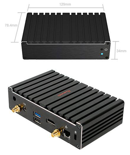 Barebone Jetway JBC400P93W-2807 Pico-ITX (Intel Bay Trail-M)