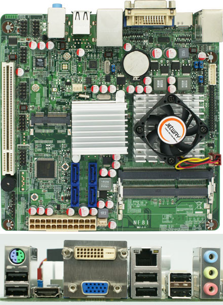 Jetway NC85-E350-LF (AMD Brazos Zacate)