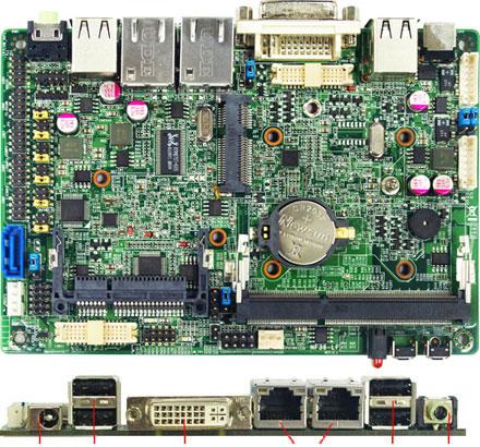 Jetway NF36-2800 (Intel Cedar Trail-M)