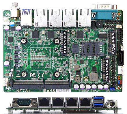 Jetway NF731-3965U (Intel Kabylake)