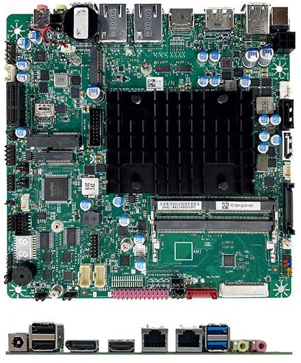Mitac PD10EHI-N6415 (Intel DN2800MT5) Thin-ITX (Intel Elkhart Lake N6415 4x3.0Ghz CPU, 8-24VDC) <b>[FANLESS]</b>