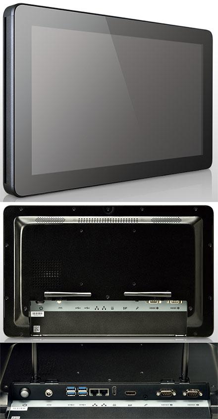 """Mitac D151-11KS [Intel i7-7600U] 15.6"""" Panel PC (1366x768, Multi-Touchscreen, PD11KS 3.5-SBC Kaby Lake, IP65 Front, Fanless)"""