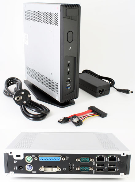 Mitac Pluto E220 (Intel Bay Trail J1900, 2x Gigabit LAN, DVI/HDMI, 2x RS232) [<b>FANLESS</b>]