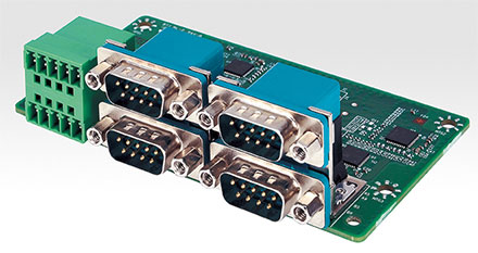 Mitac MX1-10FEP expansion module MS-48CDN-D10 (4x Isolated RS232/422/485, 8bit Isolated DIDO 4xDI/4xDO)