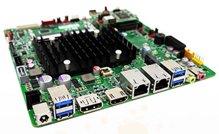 Mitac PD10AI-N3350 (Intel DN2800MT4) Half-Height (Intel Apollo Lake N3350 2x2.4Ghz CPU, 8-24VDC) [<b>FANLESS</b>]