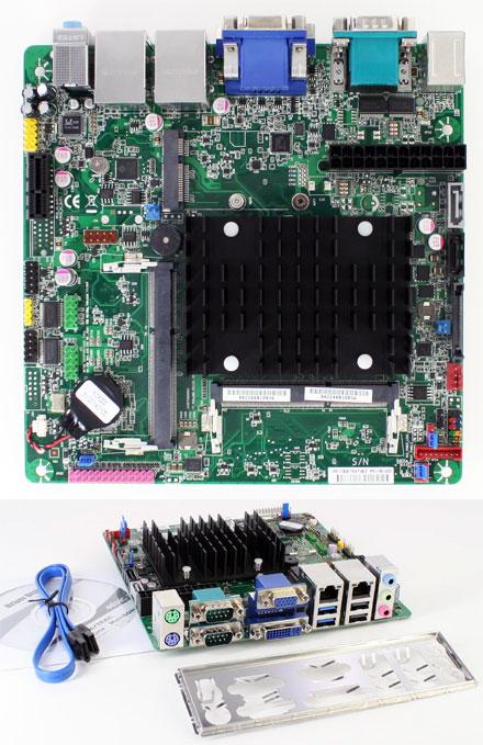 Mitac PD11BI (Intel D2500CC2) (Intel Bay Trail Celeron J1900 4x2.42Ghz CPU, 2x LAN, 4x RS232) [<b>FANLESS</b>]