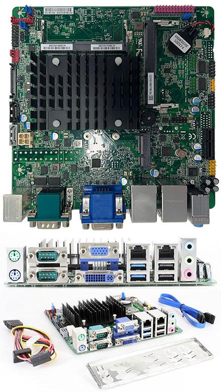 Mitac PD11BI-PSU<b>2</b> (Intel D2500CC2) (Intel Bay Trail Celeron J1900 4x2.42Ghz CPU, 2x LAN, 4x RS232, Onboard PSU) [<b>SPECIAL OFFER</b>]
