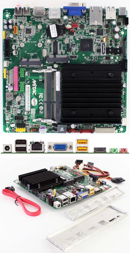 Mitac PD11TI (Intel DN2800MT-E) Half-Height (Intel Atom 2x1.86Ghz CPU, 10-19VDC) [<b>FANLESS</b>]