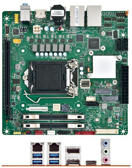 Mitac PH13FEI (SKU D, eDP) Mini-ITX (Intel Q370, LGA1151 Coffee Lake)