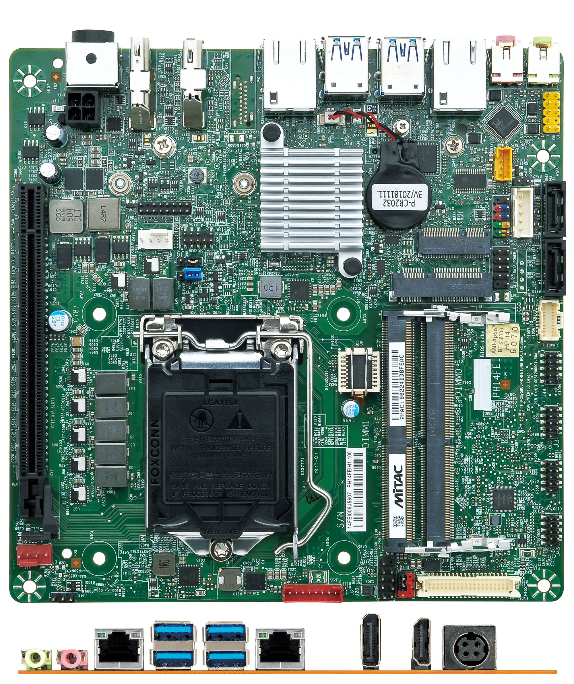 Mitac PH14FEI-H310-12V Thin-ITX (Intel H310, LGA1151 Coffee Lake)