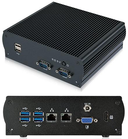 Mitac S300-10AS-WIDE (Intel Apollo Lake N3940 4x 1.8Ghz, 2x Gigabit LAN, VGA/HDMI, 2x RS232) [<b>FANLESS, [Extended temperature range -40°C to 60°C]</b>]