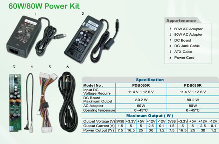 Morex PDB080R (80W Power Kit with DC board)