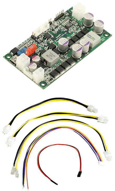 OpenUPS (6-34V Input 6A, 6-24V Output 10A, programable backup-interface)