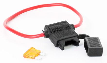 10er pack sicherungshalter kfz 20cm wasserdicht mit 5a flachsicherung ebay. Black Bedroom Furniture Sets. Home Design Ideas