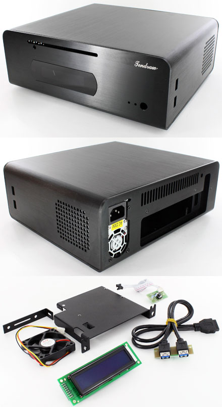 Tendraw H128C HTPC Mini-ITX enclosure (250W, 2x USB3.0, 20x2 USB LCD)