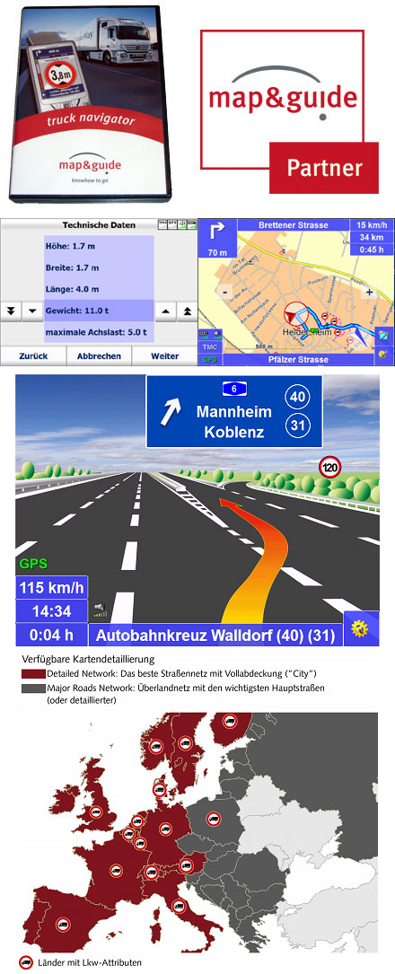 PTV TruckNavigator 9.0 (Europe incl. East-Europe, Speech, TMC) [PDA/PC <b>UPDATE-VERSION</b>] *new*